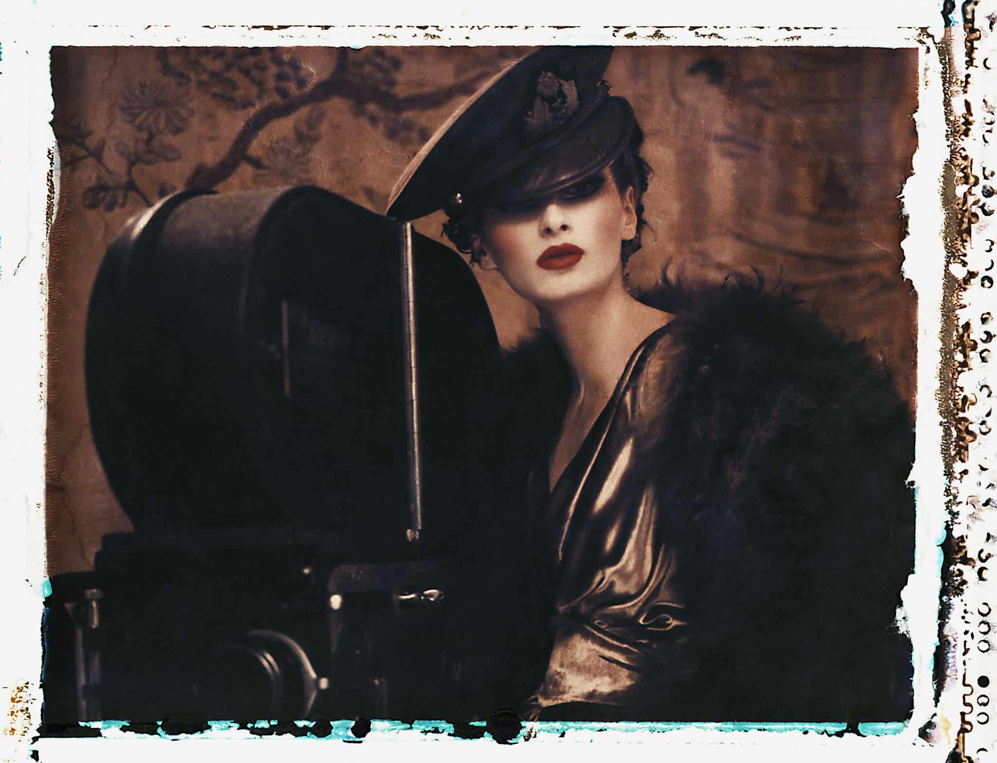 Fine art color photography of fashion model wearing couture by John Galliano.